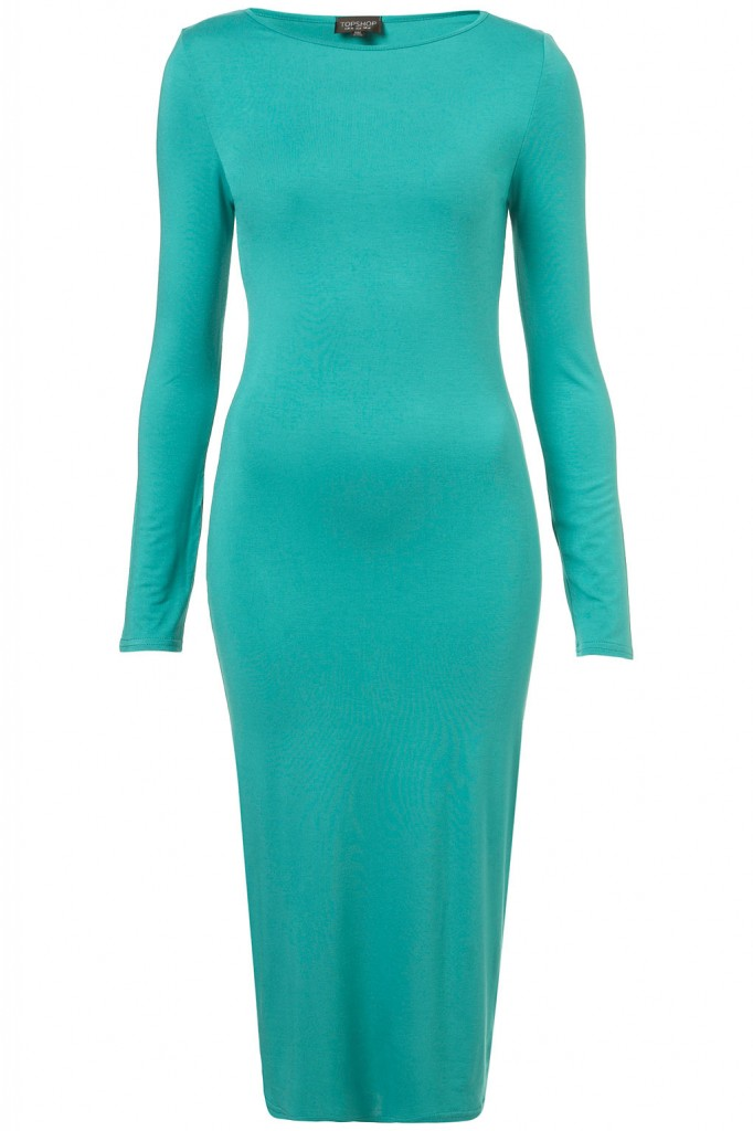 PLAIN MIDI BODYCON DRESS