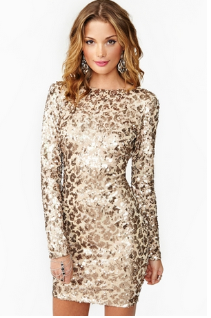 Cat Call Sequin Dress
