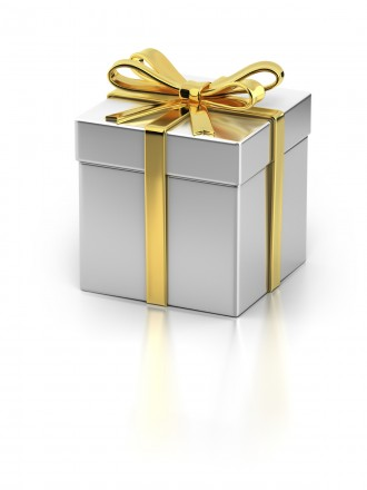 Gold & Silver/White Gift Box